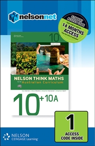 Nelson Think Maths Advanced 10 +10A for the Australian Curriculum 1 Access Code - 9780170219174