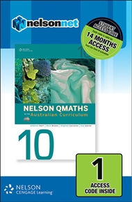 Nelson QMaths Year 10 for the Australian Curriculum (1 Access Code Card) - 9780170220408