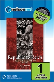 Republic to Reich: A History of Germany 1918-1939 (1 Access Code Card) - 9780170226653