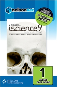 Nelson iScience 9 for the Australian Curriculum NSW Stage 5 (1 Access Code Card) - 9780170232500