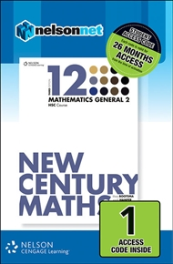 New Century Maths 12 Mathematics General 2 HSC Course (1 Access Code Card) - 9780170241366