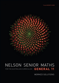 Nelson Senior Maths General 11 Solutions DVD - 9780170251488