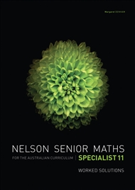 Nelson Senior Maths Specialist 11 Solutions DVD - 9780170251501