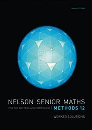Nelson Senior Maths Methods 12 Solutions DVD - 9780170254663