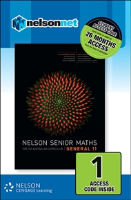 Nelson Senior Maths General 11 for the Australian Curriculum (1 Access Code Card) - 9780170254854