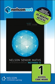 Nelson Senior Maths Methods 12 (1 Access Code Card) - 9780170254939