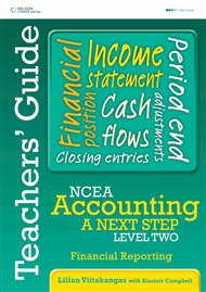 NCEA Accounting A Next Step Level Two: Financial Reporting Teacher's Guide - 9780170262446