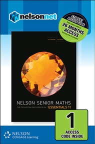 Nelson Senior Maths Essentials 11 for the Australian Curriculum (1 Access Code Card) - 9780170264037