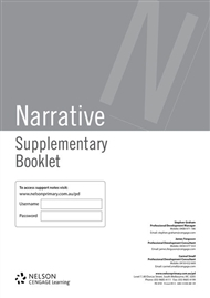 Supplementary Booklet Writing: Narrative - 9780170327268