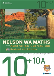 Nelson WA Maths for the Australian Curriculum 10+10A Revised (Student Book & 4 Access Codes) - 9780170361958