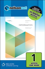 VCE Informatics Units 3 & 4 (1 Access Code Card) - 9780170364843