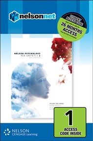 Nelson Psychology VCE Units 1 & 2 (1 Access Code Card) - 9780170368384