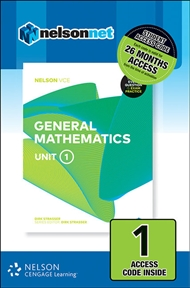 Nelson VCE General Mathematics Unit 1 (1 Access Code Card) - 9780170370844