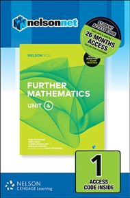 Nelson VCE Further Mathematics Unit 4 (1 Access Code Card) - 9780170371247