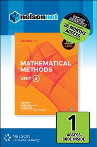Nelson VCE Mathematical Methods Unit 4 (1 Access Code Card) - 9780170371407