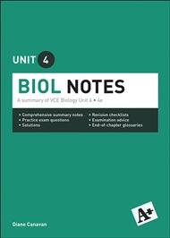 A+ Biology Notes VCE Unit 4 - 9780170373968