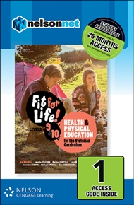 Fit for Life! for Victoria Levels 9 – 10 (1 Access Code Card) - 9780170383240