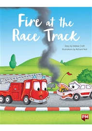 PM Educational Lap Book: Fire at the Race Track (Toytown Fire Engine Lap Book and Foam Board Cut Out) - 9780170387583
