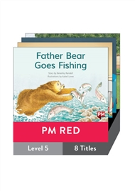 PM Red Guided Readers Fiction Level 5 Pack x 8 - 9780170398305