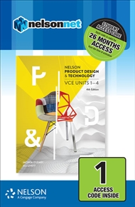 Nelson Product Design & Technology VCE Units 1 – 4 (1 Access Code Card) - 9780170400398