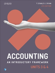 Accounting: An Introductory Framework Units 3 & 4 Student Book with 1 Access Code for 26 Months - 9780170401890