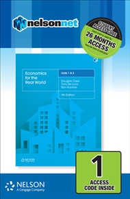Economics for the Real World Units 1 & 2 (1 Access Code) - 9780170407113