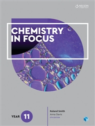 Chemistry in Focus Year 11 Student Book with 4 Access Codes - 9780170408929