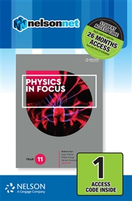 Physics in Focus Year 11 (1 Access Code Card) - 9780170409124