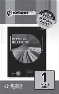 Physics in Focus Year 12 (1 Access Code Card) - 9780170409193