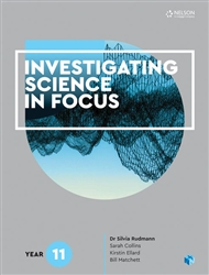 Investigating Science in Focus Year 11 Student Book with 4 Access Codes - 9780170411196