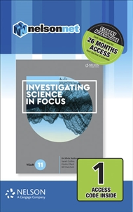 Investigating Science in Focus Year 11 (1 Access Code Card) - 9780170411257