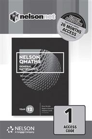 Nelson QMaths 12 Mathematics General (1 Access Code Card) - 9780170412841