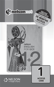 Nelson English for QCE Units 1 & 2 (1 Access Code Card) - 9780170421690