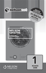 Nelson QMaths 11 Essential 1 Code Access Card - 9780170448918