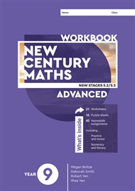 New Century Maths 9 Advanced Workbook - 9780170453394